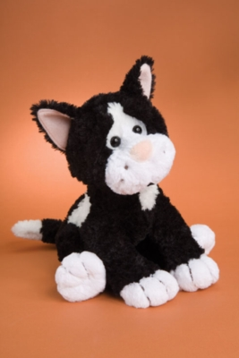 "Shaker Black & White - 14"" Cat By Douglas Cuddle Toy"