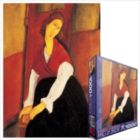 Modigliani: Jeanne Hebuterne in Red Shawl - 1000pc Jigsaw Puzzle by Eurographics