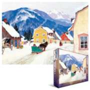 Gagnon: Laurentain Village - 1000pc Jigsaw Puzzle by Eurographics