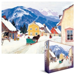 Eurographics Jigsaw Puzzles - Gagnon: Laurentain Village