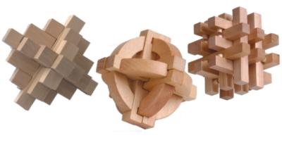 Wood Puzzles - 3 Puzzle Set