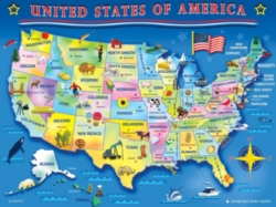 Springbok Jigsaw Puzzles - USA Map
