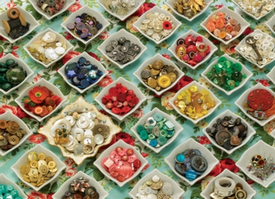 Cobble Hill Jigsaw Puzzles - Grandma's Buttons