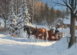 Cobble Hill Jigsaw Puzzles - Sugar Shack Horses
