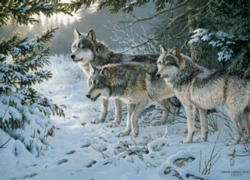 Cobble Hill Jigsaw Puzzles - Wolf Trail