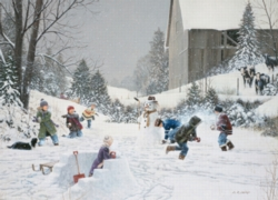 Cobble Hill Jigsaw Puzzles - Snowball Fight
