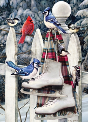 Cobble Hill Jigsaw Puzzles - Birds with Skates