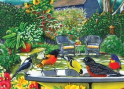 Cobble Hill Jigsaw Puzzles - Bird Bath