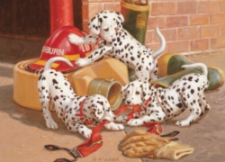 Cobble Hill Jigsaw Puzzles - Dalmatian Firehouse