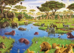Cobble Hill Jigsaw Puzzles - Watering Hole