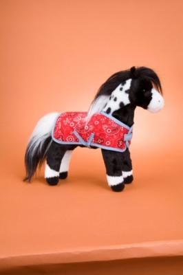 Merrit Black Appalosa w/Blanket - 10'' Horse By Douglas Cuddle Toy