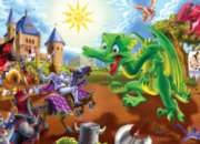 Cobble Hill Children's Puzzles - Knights and Dragons