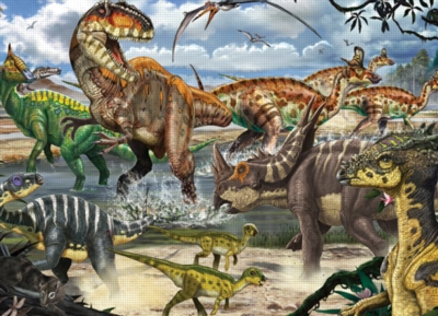 Cobble Hill Children's Puzzles - When Dinosaurs Ruled