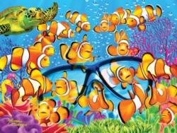Jigsaw Puzzles - Extreme Color: Curious Clownfish