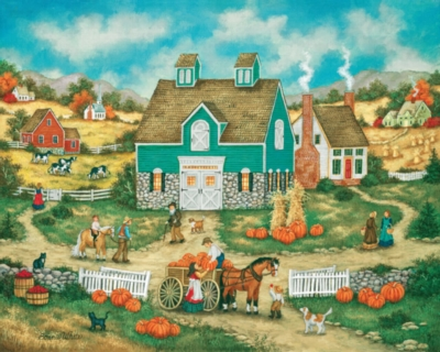 Jigsaw Puzzles - Piles of Pumpkins