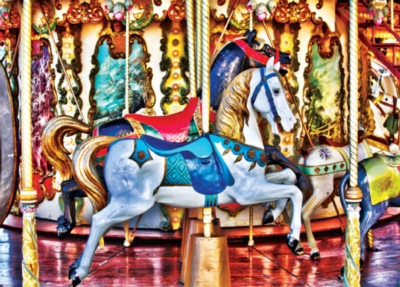 Jigsaw Puzzles - HDR Photography: Prancing Ponies
