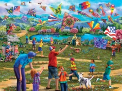 Jigsaw Puzzles - Kites in the Park