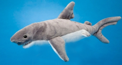 """Smiley - 12"""" Gray Shark By Douglas Cuddle Toy"""