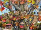 Owl Family Reunion - 1000pc Jigsaw Puzzle By Sunsout