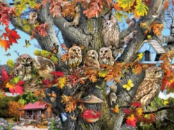 Jigsaw Puzzles - Owl Family Reunion