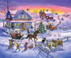 Countryside Christmas Puzzle