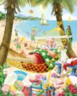 Santa's Vacation - 1000pc Jigsaw Puzzle By Vermont Christmas Company