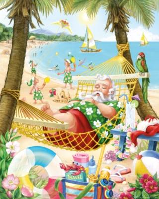 Santa's Vacation Jigsaw Puzle