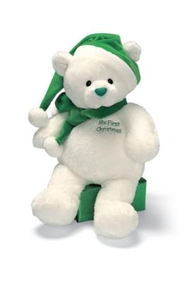 My First Christmas (Green) - 16'' Bear by Gund