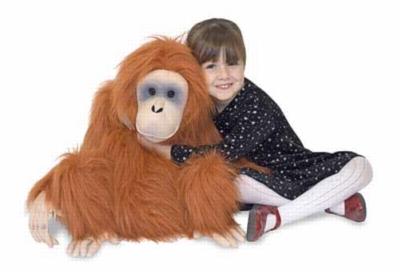 "Orangutan - 19"" High, Sitting Plush Ape by Melissa & Doug"