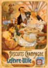 Biscuits Champagne Vintage Poster - 1000pc Jigsaw Puzzle by D-Toys
