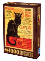 D-Toys Chat Noir Vintage Poster Jigsaw Puzzle