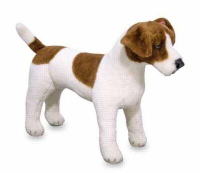"Jack Russell Terrier - 17"" Head to Tail, Plush Dog by Melissa & Doug"