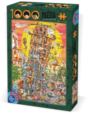 D-Toys Building the Tower of Pisa Jigsaw Puzzle
