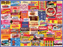 White Mountain Vintage Candy Wrappers Jigsaw Puzzle
