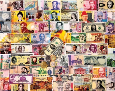 White Mountain Money of the World Jigsaw Puzzle