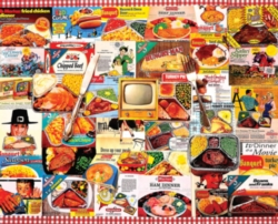 White Mountain TV Dinners Jigsaw Puzzle
