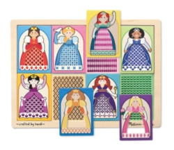 Melissa & Doug Princesses Peek-Through Jigsaw Puzzle