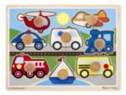 Vehicles - Jumbo Knob Puzzle By Melissa & Doug