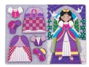 Melissa & Doug Princess Dress-Up Chunky Wood Puzzle