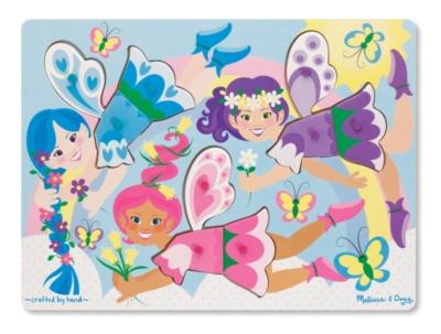 Melissa & Doug Dress-Up Fairies Peg Puzzle