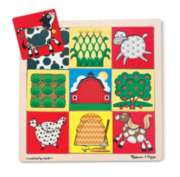 Melissa & Doug Farm Peek-Through Jigsaw Puzzle