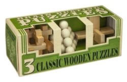 Brain Busting Set of 3 Wood Puzzles