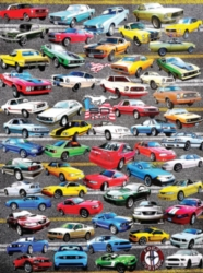 White Mountain 50 Years of Mustang 550-piece Jigsaw Puzzle
