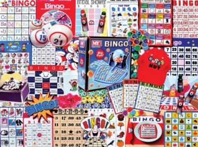 White Mountain Bingo Nut 300-piece Jigsaw Puzzle
