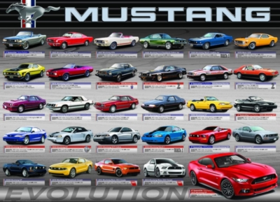 Eurographics Ford Mustang Evolution 50th Anniversary Jigsaw Puzzle