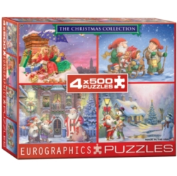 Eurographics The Christmas Collection 4 Pack Jigsaw Puzzle