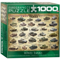 Eurographics Tanks of WWII (Small Box) Jigsaw Puzzle