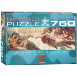 Eurographics Creation of Adam by Michelangelo di Buonarroti Jigsaw Puzzle