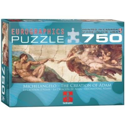 Eurographics Creation of Adam by Michelangelo di Buonarroti Jigsaw Puzzle