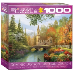 Eurographics Autumn Church by Dominic Davison (Small Box) Jigsaw Puzzle